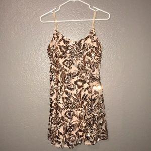 Sparkling rose gold dress